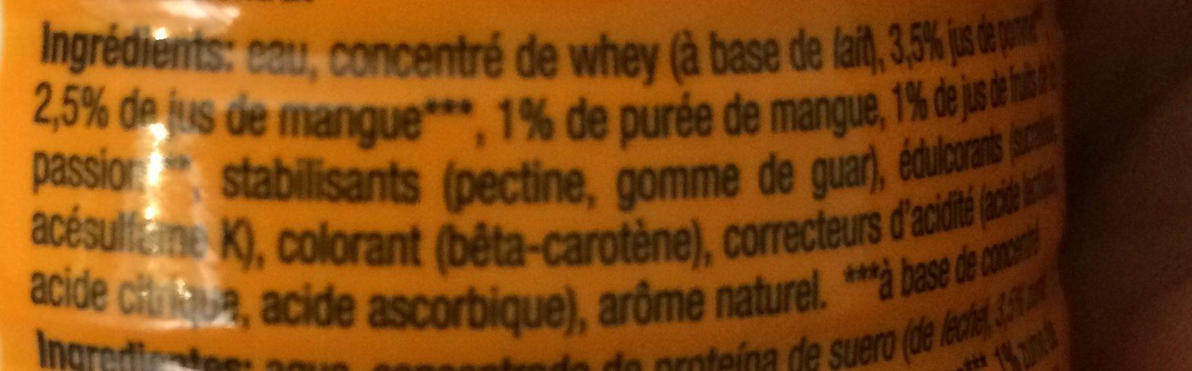 Protein Smoothie mangue fruit de la passion - Ingrédients - fr