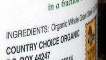 Irish Style Oats - Ingredients
