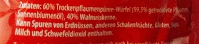 Frucht- Nuss- Mischung Pflaumen/Wallnusskerne - Ingredients