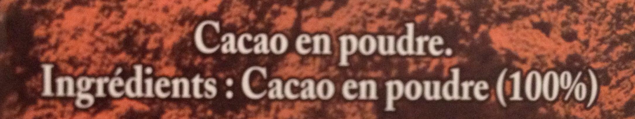 100 % cacao - Ingrédients