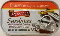 SARDINAS EN ACEITE DE SOYA CON PICANTE - Produit - es