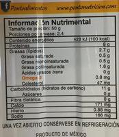 SARDINAS EN ACEITE DE SOYA CON PICANTE - Informations nutritionnelles - es