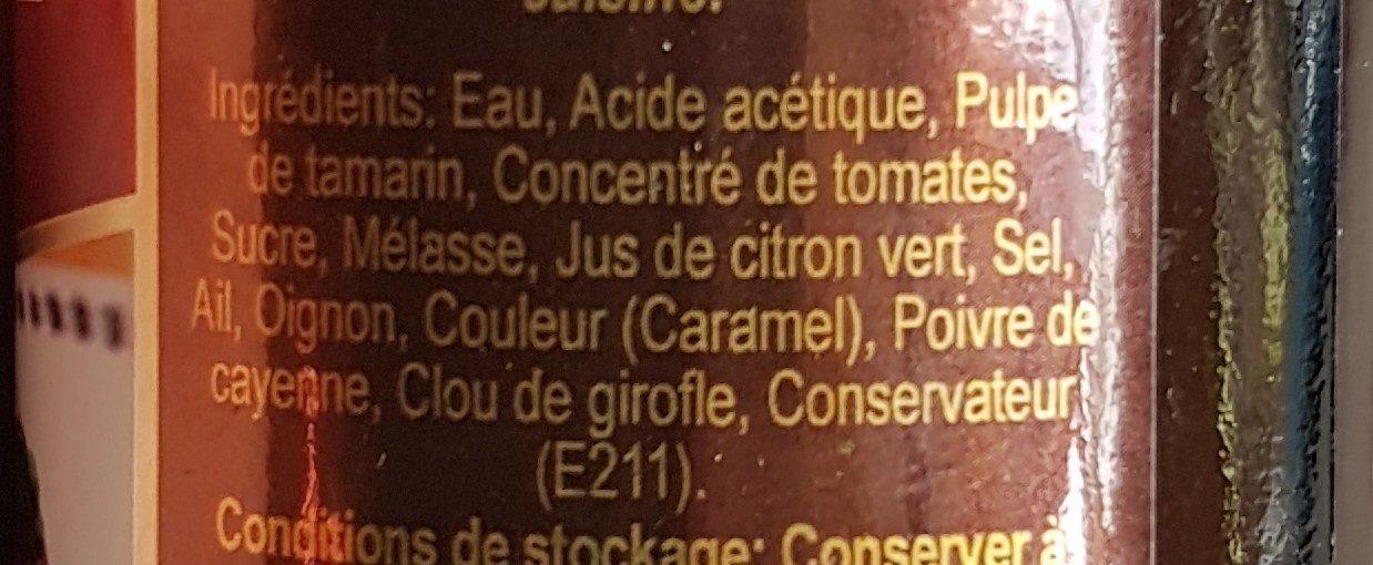 Worcestershire sauce - Ingrédients