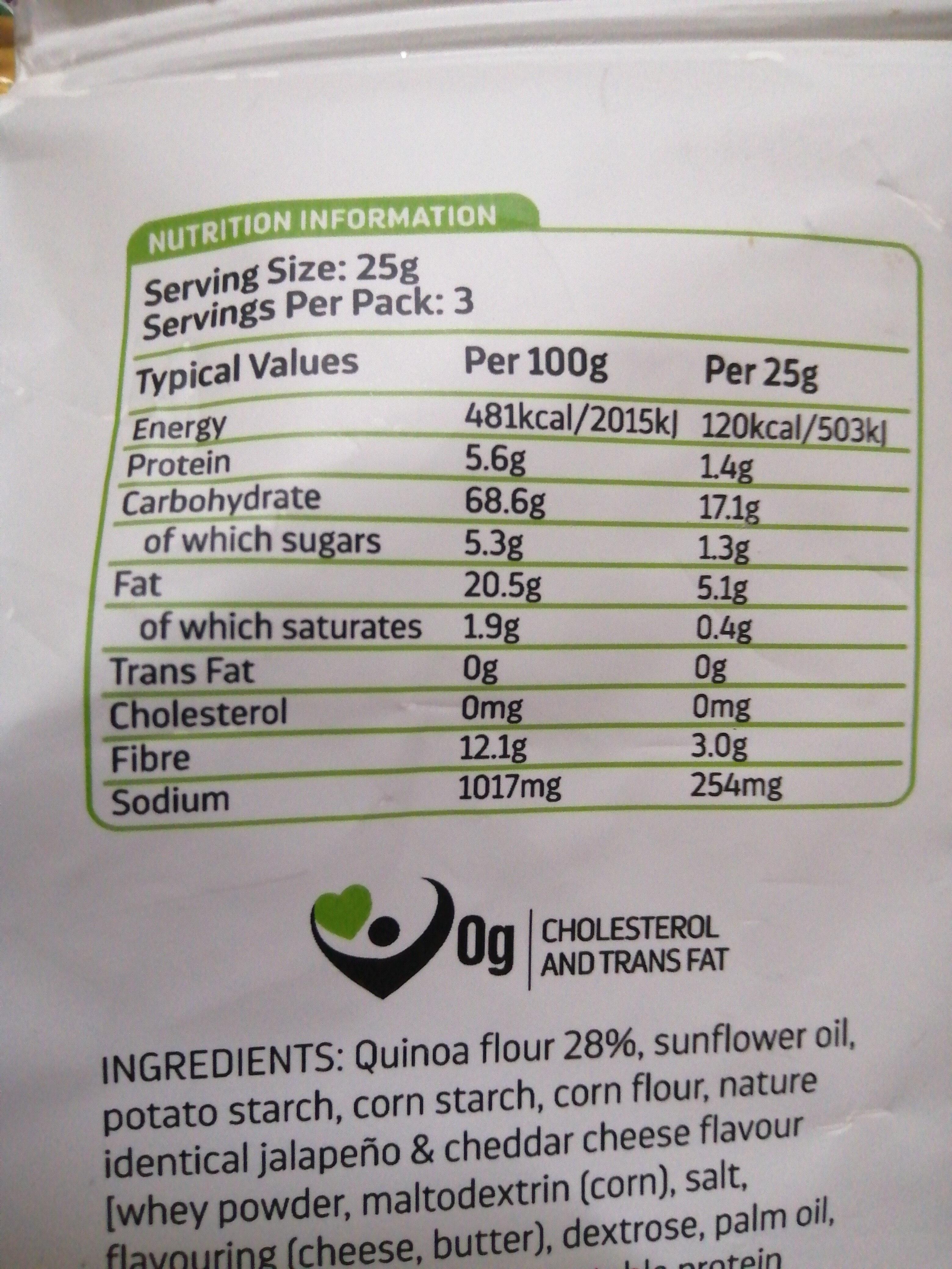 hunter's gourmet quinoa chips - Nutrition facts - en