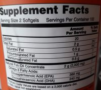 Now Omega-3 Fish Oil Concentrate - Ingredients