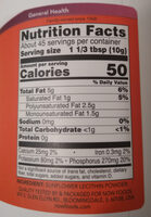 Sunflower lecithin pure powder - Valori nutrizionali - en