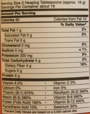 Nutritional Yeast Flakes - Nutrition facts - en