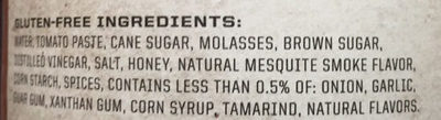 Smokey Mesquite - Ingredients