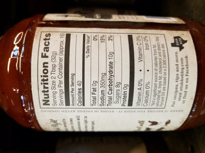 Smokey Mesquite - Nutrition facts
