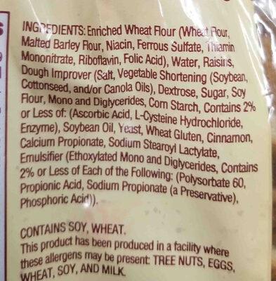 Rockland Bakey - Ingredients