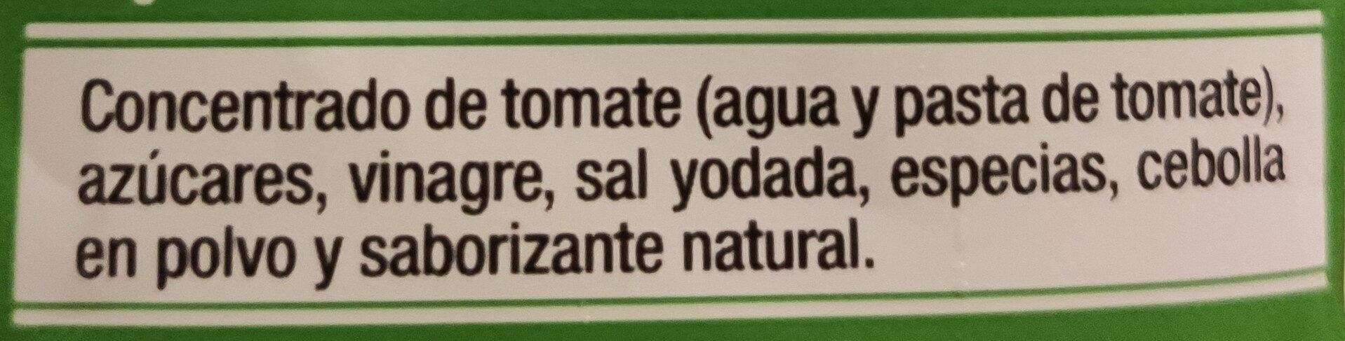 Tomato Ketchup - Ingredients - es