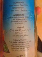 Préparation aromatisante à la fleur d'oranger - Nutrition facts - en
