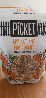 apricot and macadamia toasted muesli - Product - en