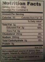Prosciutto - Nutrition facts - en