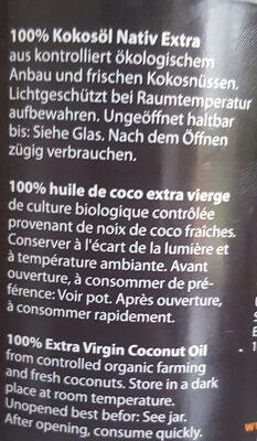 Huile de coco extra vierge - Ingrédients - fr