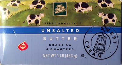 Grade AA Unsalted Butter - Product