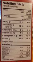 croque-matin Maple pecan - Nutrition facts