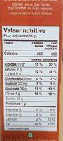 Morning Crisp - Maple pecan - Nutrition facts - fr