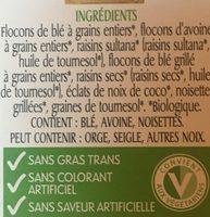 Muesli Biologique - Ingrédients - fr