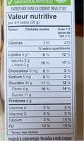 Muesli Biologique - Informations nutritionnelles - fr