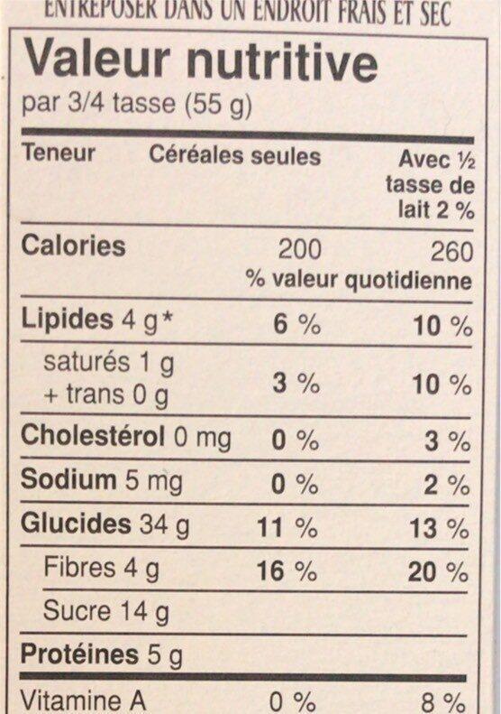 Super Berry Muesli - Nutrition facts - fr
