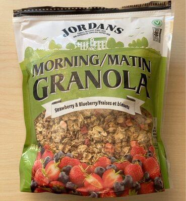 Morning/Matin Granola - Strawberry & Blueberry - Produit - en