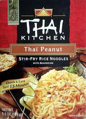 Thai peanut noodle kit includes stir-fry rice noodles & thai peanut seasoning - Product - en