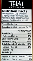 Thai peanut noodle kit includes stir-fry rice noodles & thai peanut seasoning - Nutrition facts - en