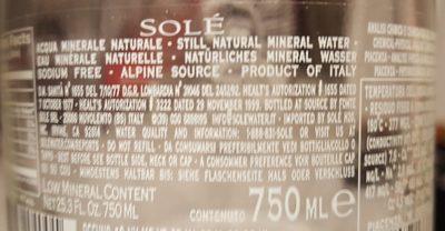 Eau minérale naturelle - Ingrédients