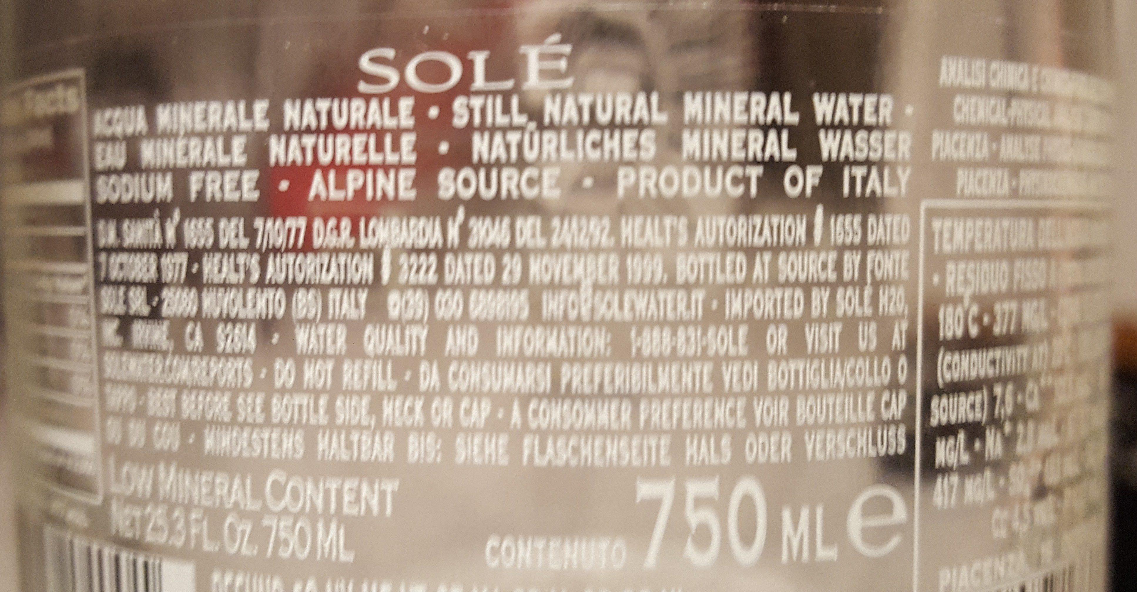 Eau minérale naturelle - Ingrédients - fr