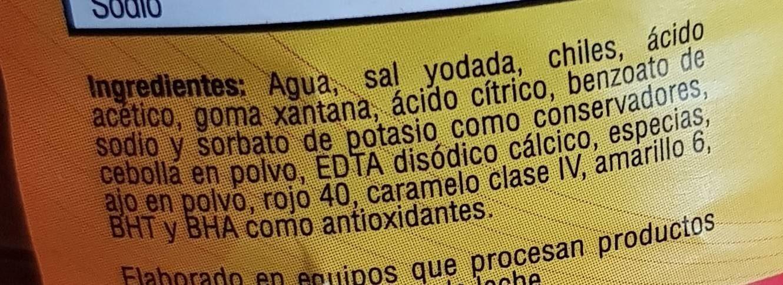 Salsa Clásica - Ingredients - fr