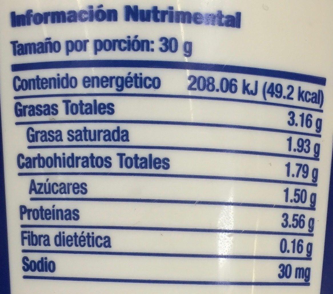 Galbani Queso Ricotta - Nutrition facts - es