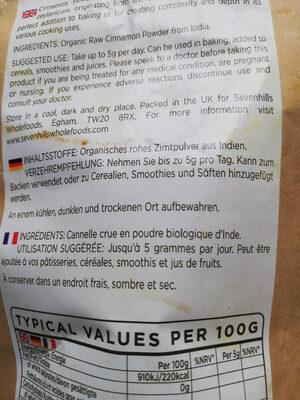 cannelle en poudre - Ingrediënten - fr