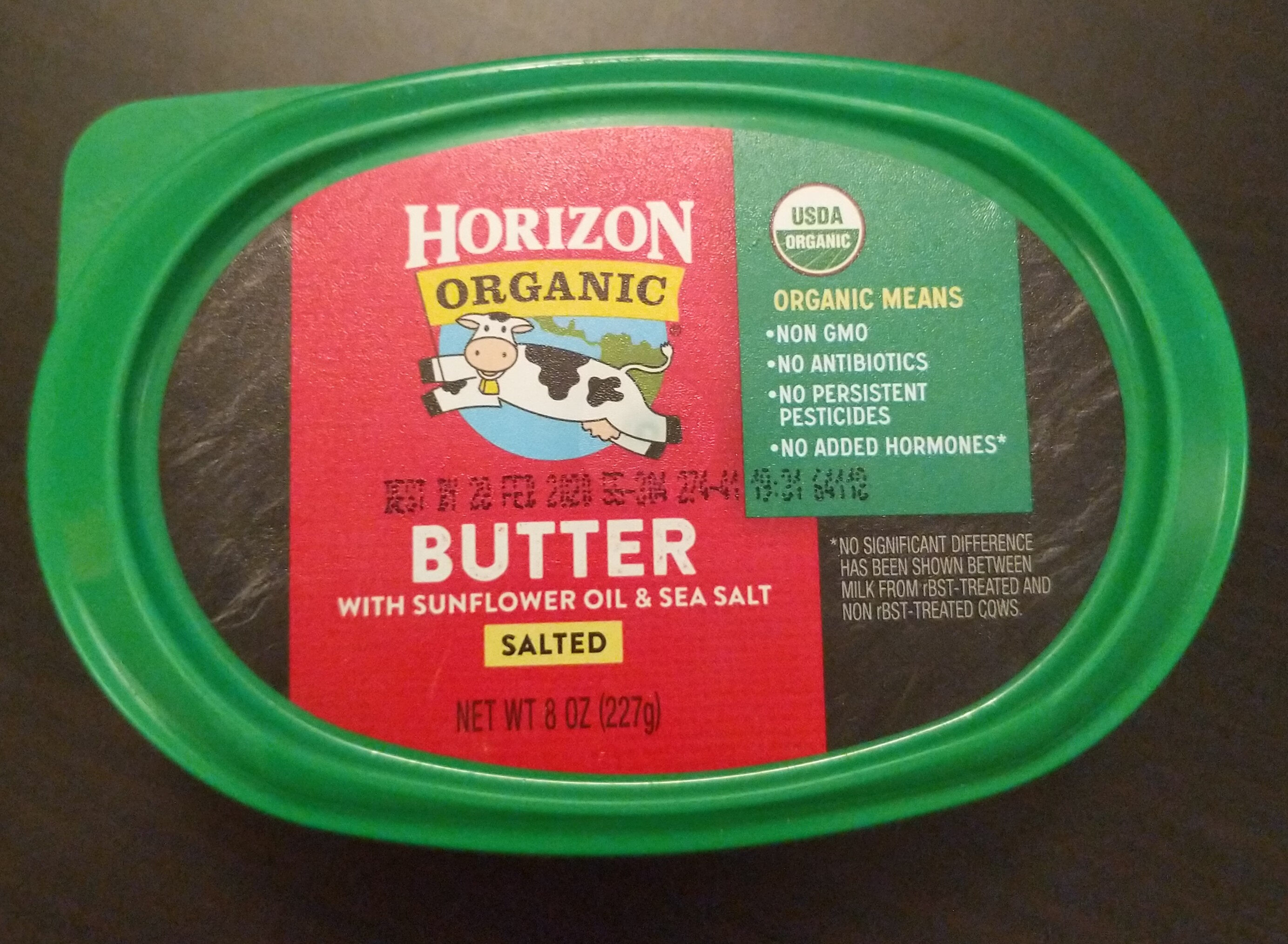 Salted organic spreadable butter with sunflower oil & sea salt - Product - en