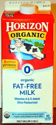 Organic fat-free milk - Product - en