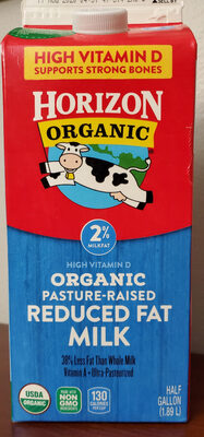 Organic Reduced Fat Milk - Product - en