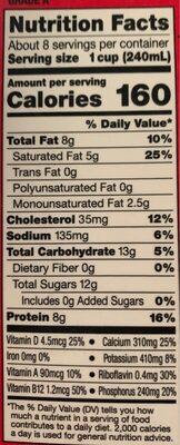 Milk vitamin d whole - Nutrition facts - en