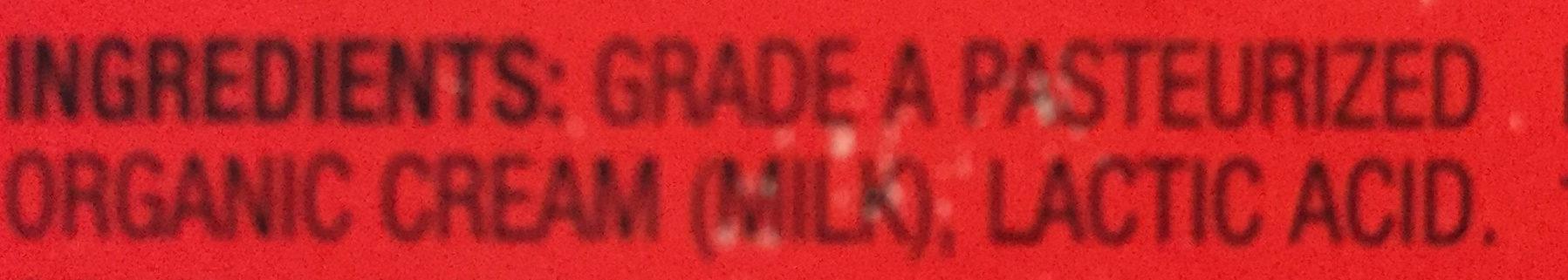 Organic butter - Ingredients - en
