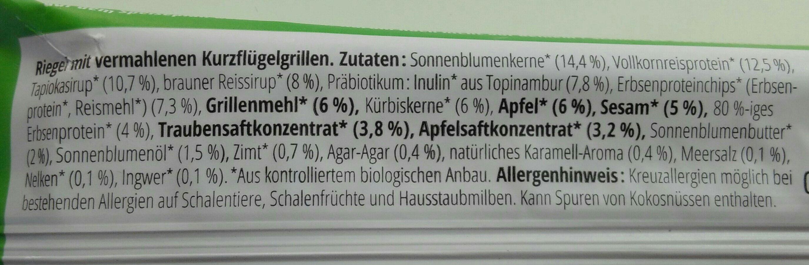 Instinct Insektensnack Apfel und Zimt - Ingrediënten - de