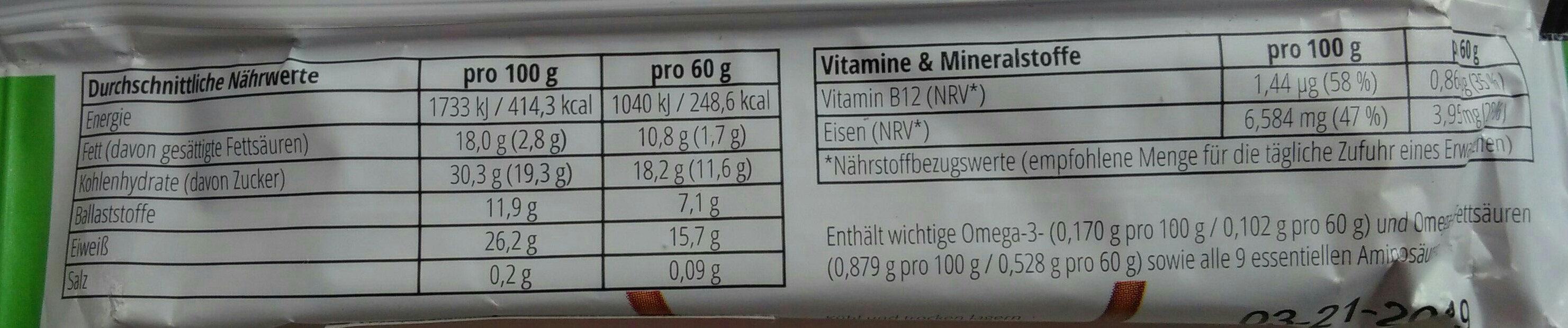 Instinct Insektensnack Apfel und Zimt - Voedingswaarden - de