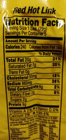 Red Hot Link - Nutrition facts