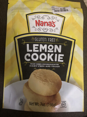 Lemon Cookie, gluten free - Product
