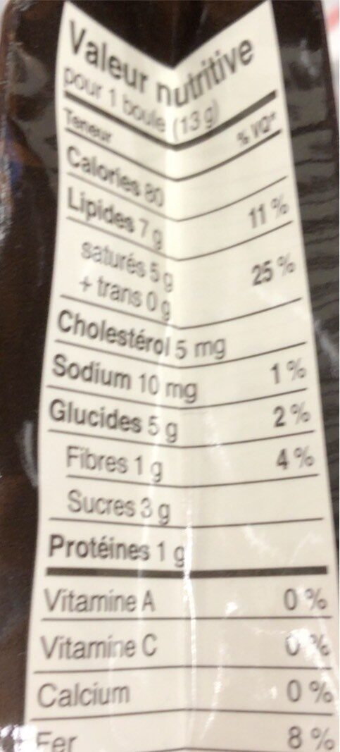 70% cacao - Nutrition facts - fr