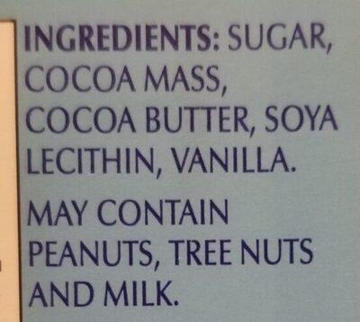 Chocolat noir original - Ingredients - en