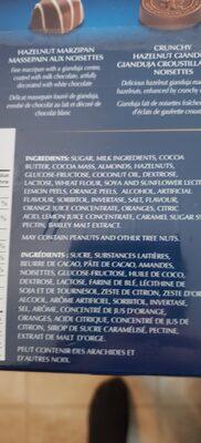 Pralinés assortis - Ingredients - en