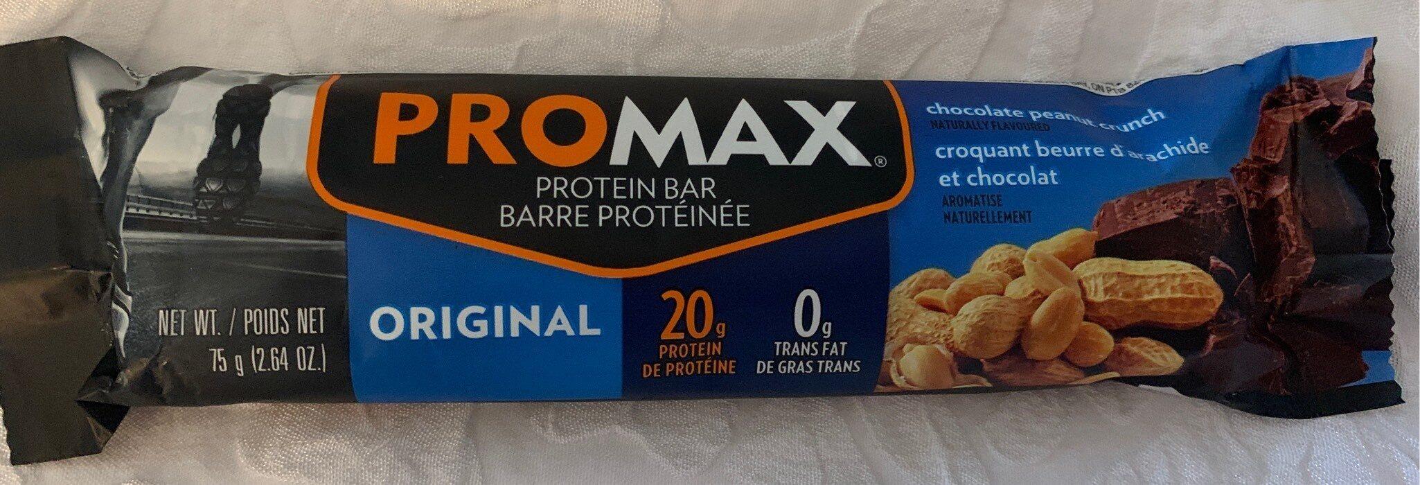 Chocolate peanut crunch protein bar, chocolate peanut crunch - Produit - fr