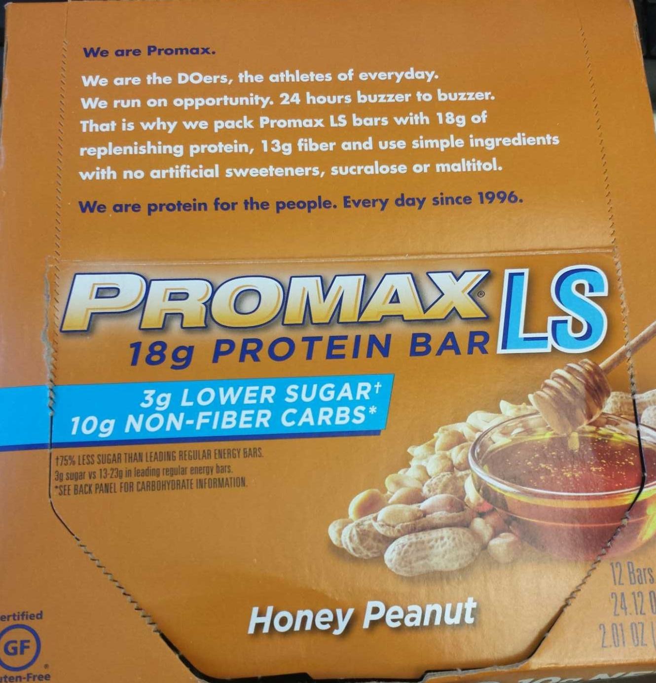 Promax LS protein bar honey peanut - Product - en