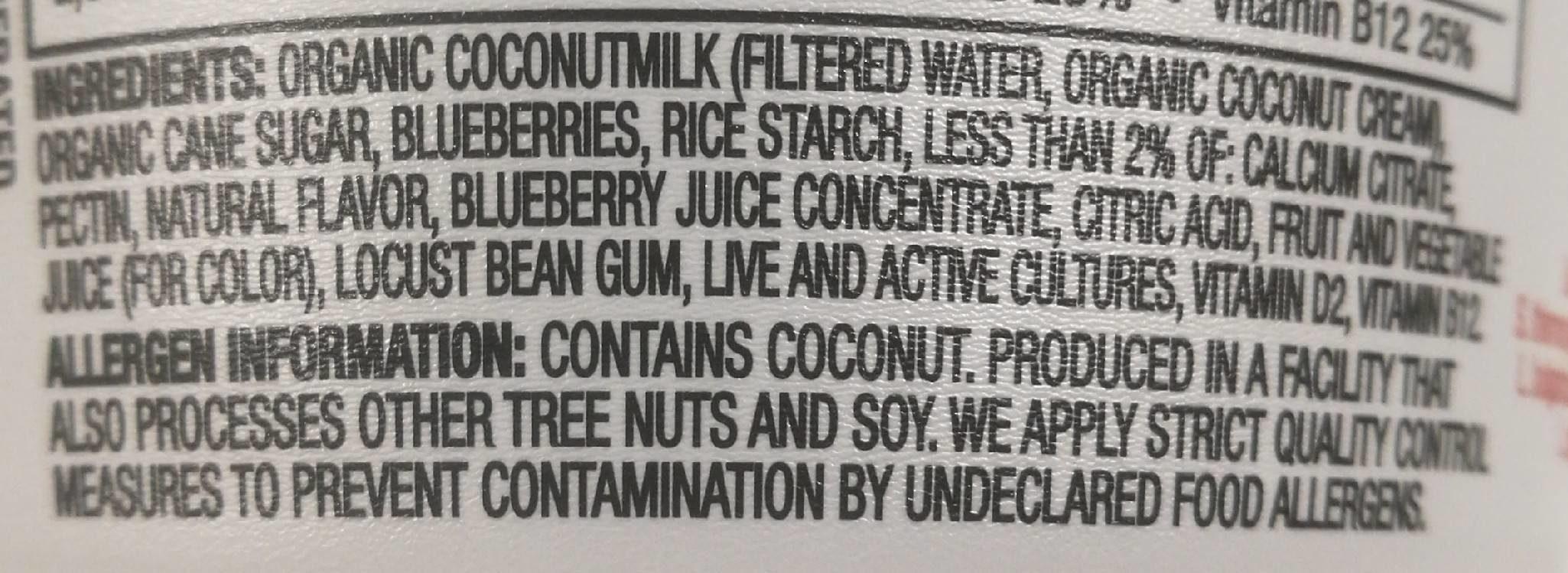 Coconutmilk yogurt alternative - Ingredients - en