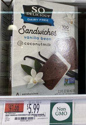 Coconutmilk non-dairy frozen dessert sandwiches - Product - en