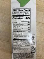 Coconut milk beverage - Informations nutritionnelles - en